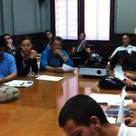 """2011: ide hintze: students, class """"voz y cuerpo"""". escuela de poesía de medellín, colombia"""